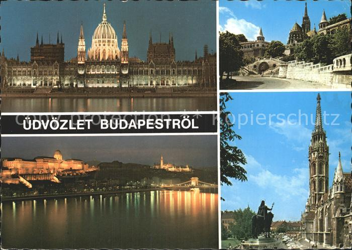 Budapest Schloss Denkmal  Kat. Budapest