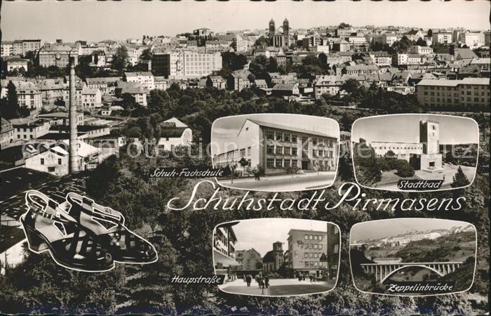 Pirmasens Stadtbad Schuh Fachschule Hauptstrasse Kat. Pirmasens