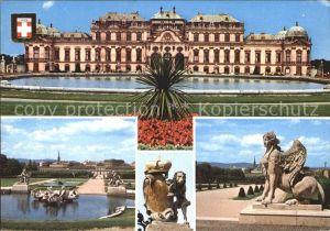Wien Schloss Belverde mit Garten Kat. Wien