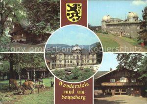 Sonneberg Thueringen Lutherhaus Spielzeugmuseum Sternwarte Tiergehege an der Blockhuette Kat. Sonneberg