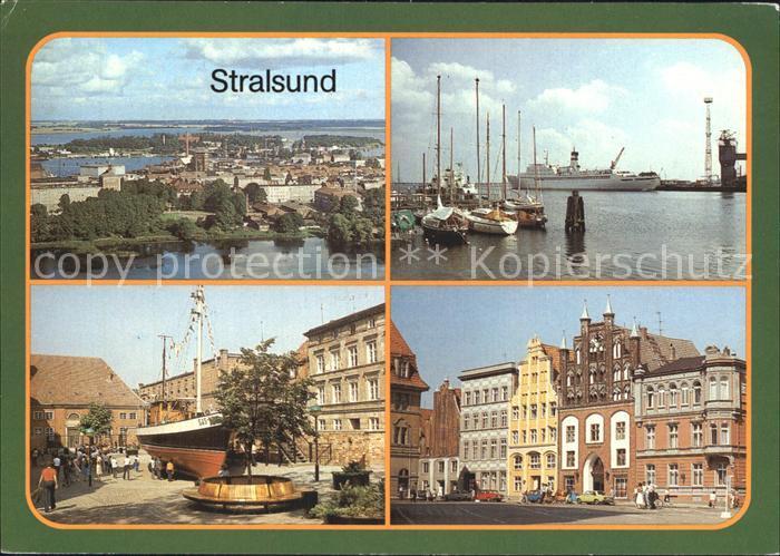 Stralsund Mecklenburg Vorpommern Hafen Kutter Meeresmuseum Alter Markt  Kat. Stralsund