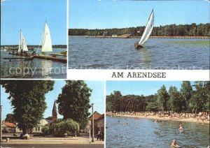 Arendsee Altmark Arendsee Bootspartien Dorfmotiv Strand Kat. Arendsee