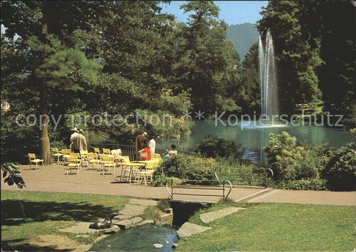 Badenweiler Kurpark Fontaene Kat. Badenweiler