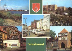 Stralsund Mecklenburg Vorpommern Hafen Leninplatz Fr Wolf Str Museum Kniepertor Kat. Stralsund