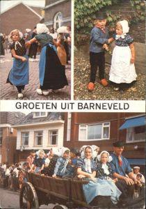 Barneveld Gelderland Spielende Kinder mit Pferdewagen Kat. Barneveld
