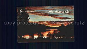 Big Bear Lake Lake with Sunset Kat. Big Bear Lake