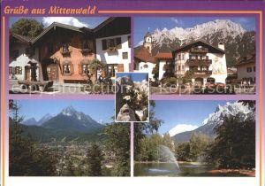 Mittenwald Bayern Geigenbauer Museum Karwendelgebirge Kurpark Wetterstein  Kat. Mittenwald
