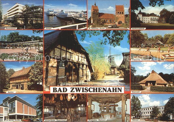 Zwischenahn Bad Rheumaklinik Anleger Nachsorgeklinik Windmuehle Mahlwerk Marienkirche Kat. Bad Zwischenahn