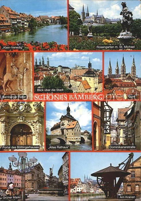Bamberg Klein Venedig Rosengarten Sankt Michael Bamberger Reiter Kat. Bamberg