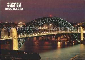 Sydney New South Wales Harbour Bridge Nachtaufnahme Kat. Sydney