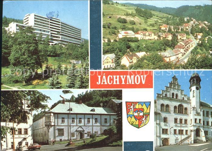 Jachymov Ortsansicht Rathaus Kat. Sankt Joachimsthal