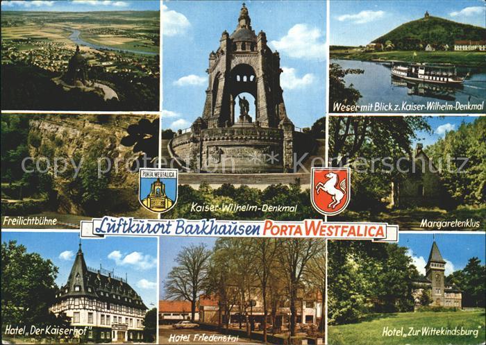 Barkhausen Minden Freilichtbuehne Hotel  Der Kaiserhof Wittenskindburg Kaiser Wilhelm Denkmal Kat. Minden