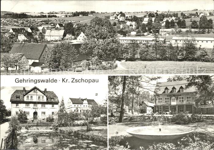 Gehringswalde uebersicht Rathaus Kaffee Warmbad Kat. Wolkenstein