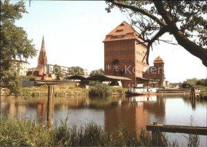 Demmin Mecklenburg Vorpommern Hafen Bartholomaeuskirche Kat. Demmin
