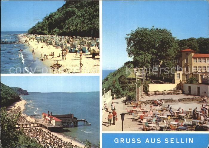 Sellin Ruegen Seebruecke Strand  Kat. Sellin Ostseebad