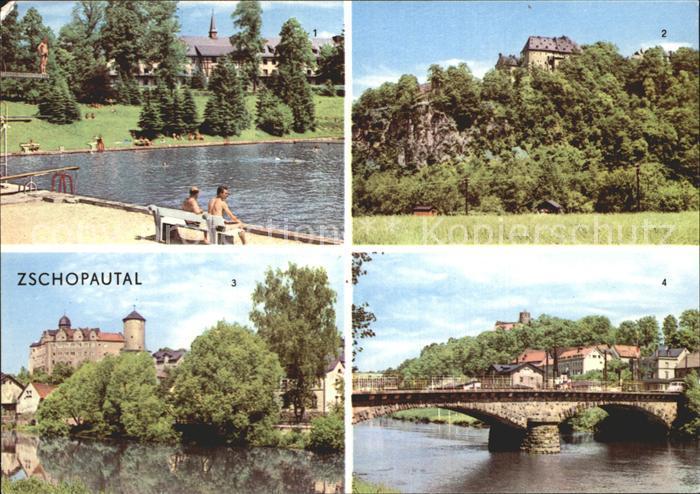 Zschopau Wolkenstein Warmbad Schloss Scharfenstein Schloss Wildeck  Kat. Zschopau