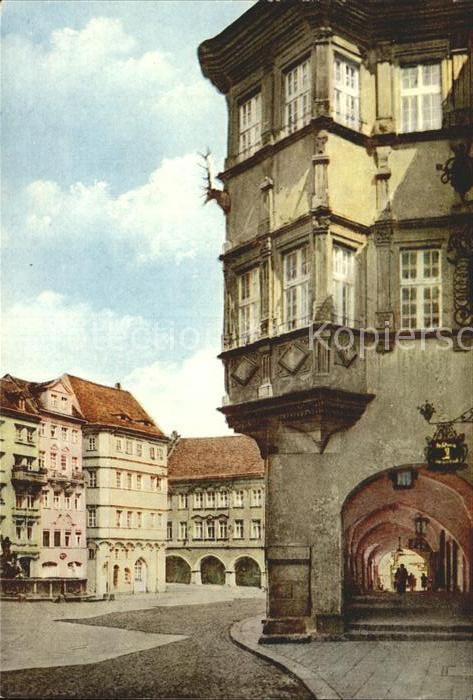 Goerlitz Sachsen Schoenhof Untermarkt aelteste Renaissancehaus Kat. Goerlitz