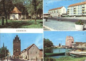 Demmin Mecklenburg Vorpommern Markt Luisenhof Hafen Kat. Demmin