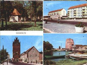 Demmin Mecklenburg Vorpommern Marienhain Neubaten Markt Luisentor Hafen  Kat. Demmin