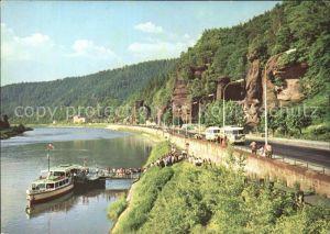Hrensko Elbsandsteingebirge Elbe Kat. Herrnskretschen