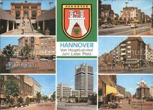 Hannover Hauptbahnhof Lister Platz Bredero Hochhaus Wedekindstrasse Kat. Hannover