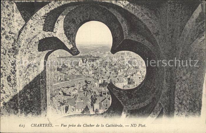 Chartres Eure et Loir Vue prise du Clocher de la Cathedrale Kat. Chartres