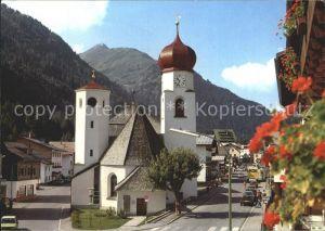 St Anton Arlberg Ortspartie Kirche Kat. St. Anton am Arlberg