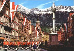 Innsbruck Maria Theresien Strasse Annasaeule Wiltener Stadtmusikkapelle Kat. Innsbruck