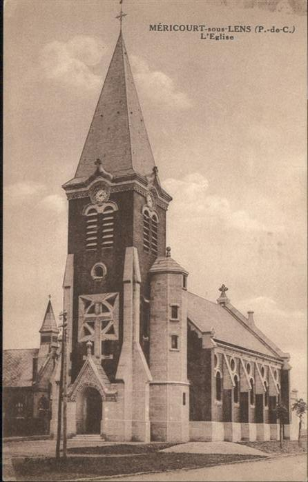 Mericourt Pas-de-Calais Mericourt Eglise * / Mericourt /Arrond. de Lens