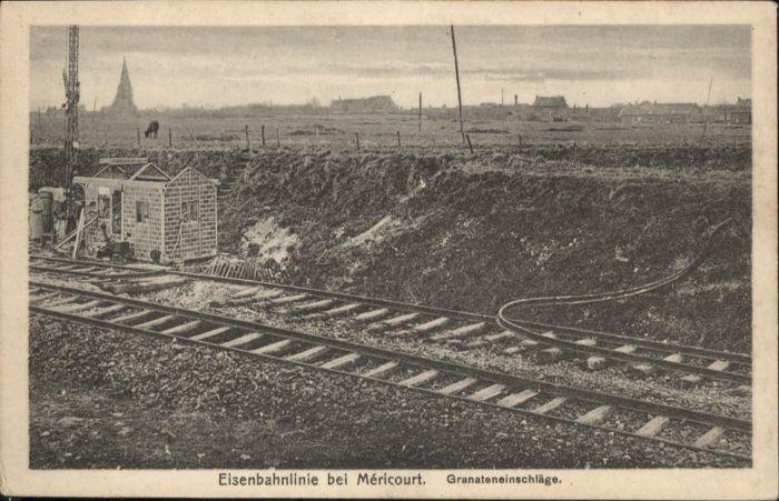 Mericourt Pas-de-Calais Mericourt Eisenbahnlinie Granteinschlaege * / Mericourt /Arrond. de Lens