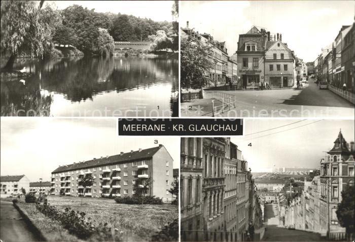Meerane Gondelteich Franz Mehring Platz Neubauten Steile Wand Kat. Meerane