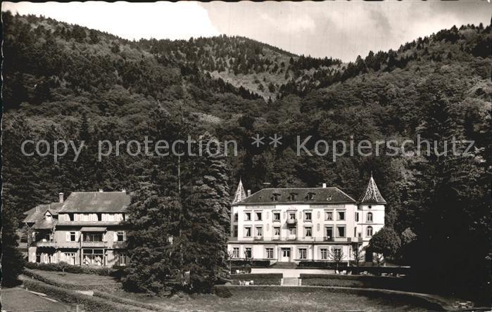 Badenweiler Sanatorium Schloss Hausbaden Kat. Badenweiler