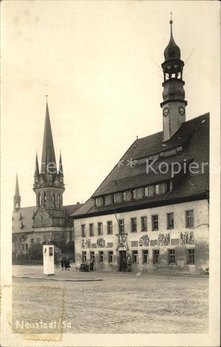 Neustadt Sachsen Rathaus Kat. Neustadt Sachsen