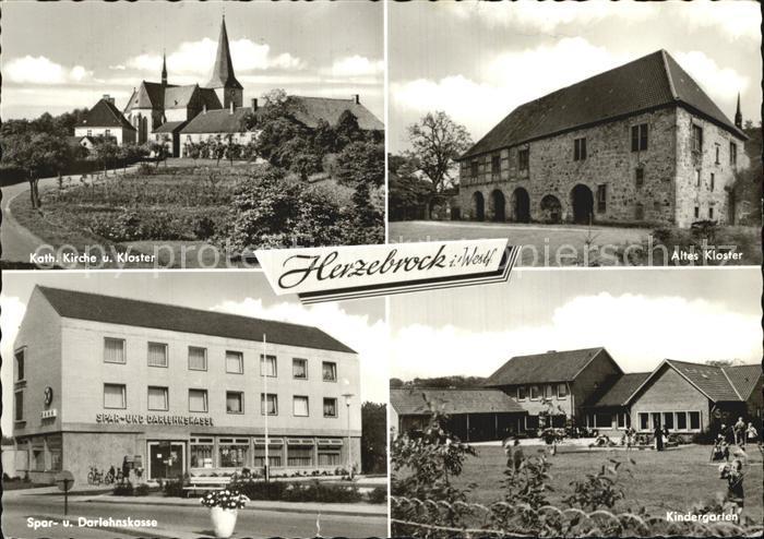 Herzebrock Kath Kirche Kloster Spar und Darlehenskasse Kindergarten Kat. Herzebrock Clarholz