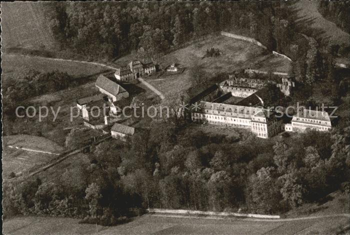 Lich Hessen Fliegeraufnahme Gasthaus Pension Zur Klostermuehle Kat. Lich