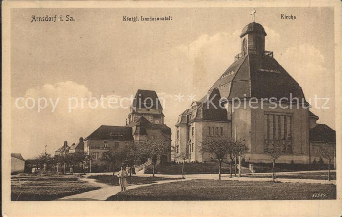 Arnsdorf Dresden Kgl Landesanstalt Kirche Kat. Arnsdorf