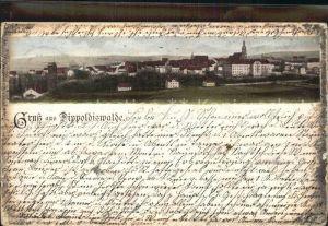 Dippoldiswalde Osterzgebirge Gesamtansicht mit Kirche Kat. Dippoldiswalde