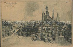Wernigerode Harz Marktplatz Rathaus Kuenstlerkarte Kat. Wernigerode