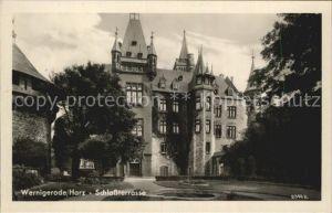 Wernigerode Harz Schlossterrasse Schloss Kat. Wernigerode