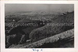 Wernigerode Harz Gesamtansicht mit Schloss Kat. Wernigerode
