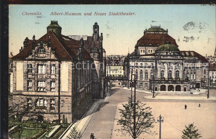 Chemnitz Albert Museum Neues Stadttheater Kat. Chemnitz