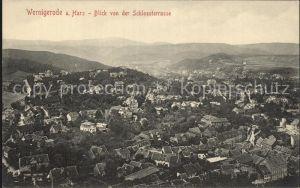 Wernigerode Harz Blick von der Schlossterrasse Kat. Wernigerode