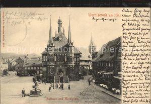 Wernigerode Harz Marktplatz und Rathaus Kat. Wernigerode