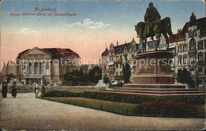 Magdeburg Kaiser Wilhelm Platz Zentraltheater Kat. Magdeburg