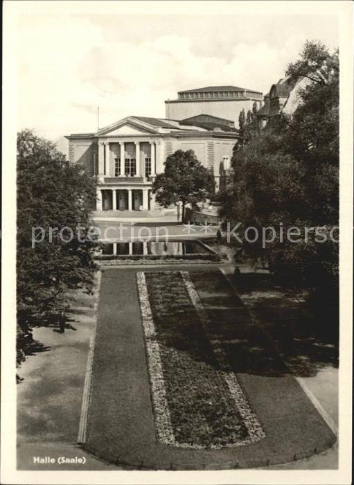 Halle Saale Theater des Friedens Kat. Halle