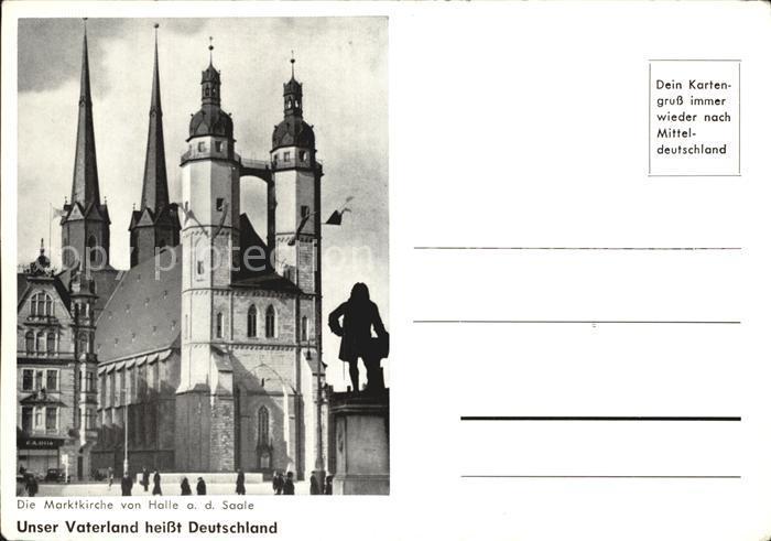 Halle Saale Marktkirche Kat. Halle