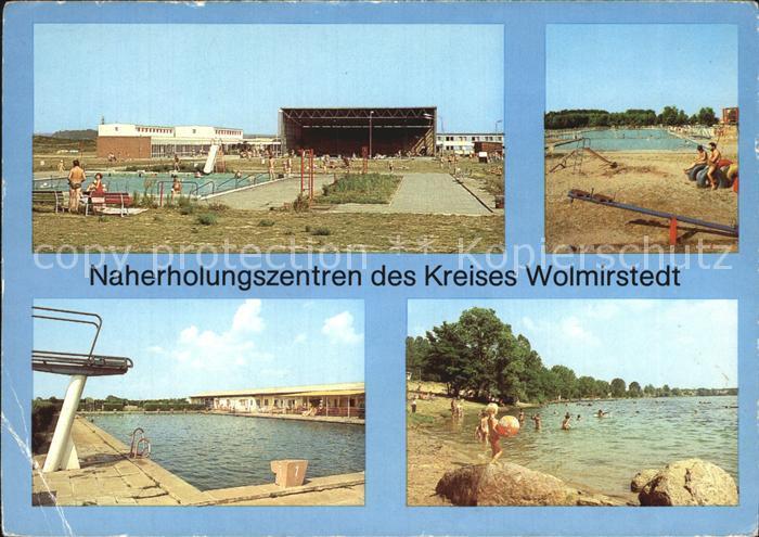 Wolmirstedt Naherholungszentren Warmwasserbad Waldbad Freibad  Kat. Wolmirstedt
