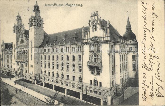 Magdeburg Justiz Palast Kat. Magdeburg