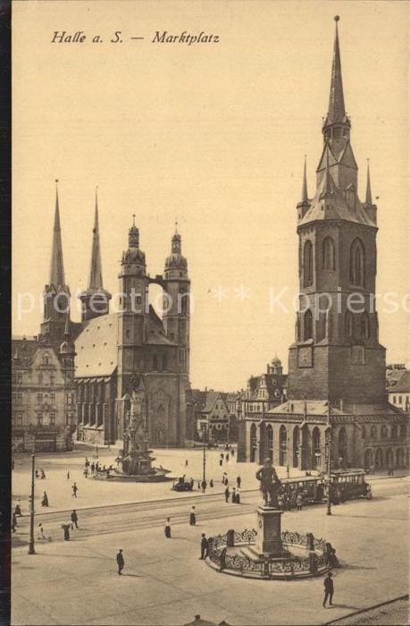 Halle Saale Marktplatz Kat. Halle
