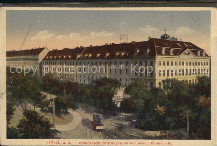 Halle Saale Frankesche Stiftungen neue Promenade Kat. Halle